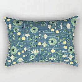 Freshly Cut - Blue Rectangular Pillow