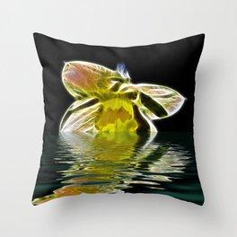 Watery Petals Throw Pillow