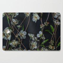White Flowers Cutting Board