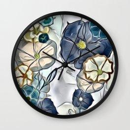 Soothing Morning Glories Wall Clock