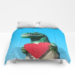 Tiny Arms, Big Heart: Tyrannosaurus Rex with Red Heart Comforters