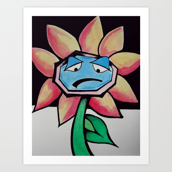Barry the Bipolar marigold  Art Print