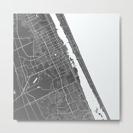 Daytona Beach USA Modern Map Art Print Metal Print