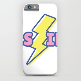 As if with flash iPhone Case