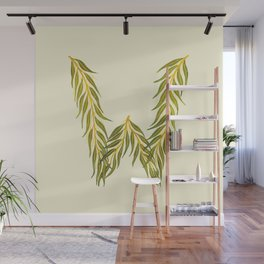 Leafy Letter W Wall Mural