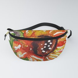 Sunflower Watercolor - Yellow Floral Fanny Pack