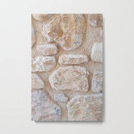 Ancient Minoan Stone Wall Metal Print