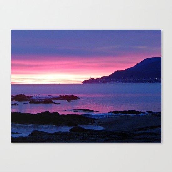 Winter's Dawn on the Coast Canvas Print