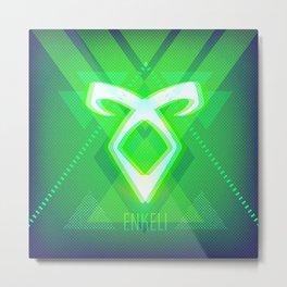 Neon Enkeli Rune Metal Print