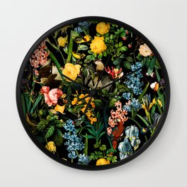 FLORAL AND BIRDS V Wall Clock