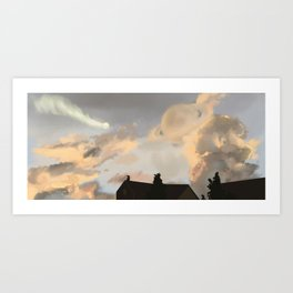wouldn't it be cool if Saturn was super close Art Print