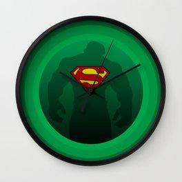 Super Hulk - Circular Hulk - Circular Superman - Green Machine - Digital Artwork  Wall Clock