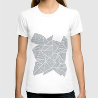 psych T-shirts featuring Abstract Mountain Grey by Project M
