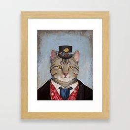 Sir Kitty Steampunk anthropomorphic Framed Art Print