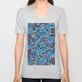 Exactly Where They'd Fall (Floral Pattern) Unisex V-Neck