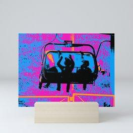 Mountain Bikers Ride - Gondola Mini Art Print