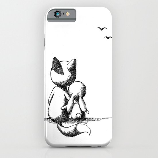 Fox and a rabbit iPhone & iPod Case
