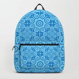 Modern Caribbean Blue Boho Lace Mandala Print Backpack