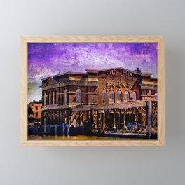 Broadway City Pier, Under Purple Skies, Fells Point, Baltimore, Maryland  Framed Mini Art Print