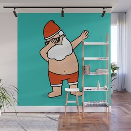Santa's awake Wall Mural