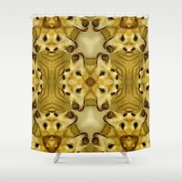 labrador Shower Curtains featuring Labrador Kaleidoscope by Arthur Ruiz