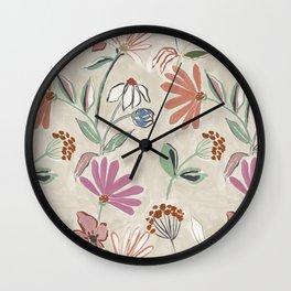 Monday Floral Wall Clock