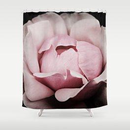 Unfurl Pink Rose Shower Curtain