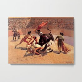 "Frederic Remington Western Art ""Bullfight in Mexico"" Metal Print"
