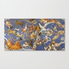 Fresco of the Villa Farnese, Lazio, Italy Canvas Print