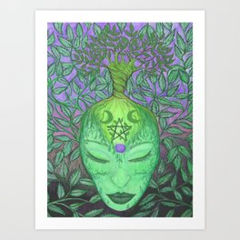 Earth Goddess Tree of Life Art Print