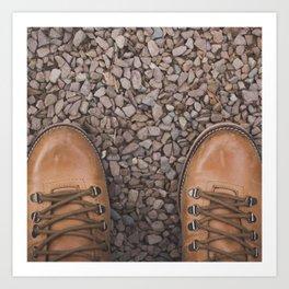 Traveling / Hiking Boots - Minimalist Photography Art Print