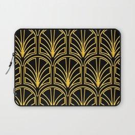 3-D Art Deco Argentinian Glamour Gold Pattern Laptop Sleeve