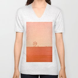Red Wall Unisex V-Neck