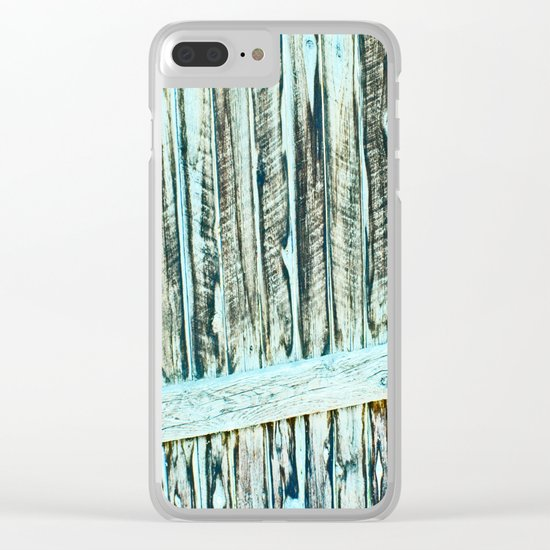 Abstract Wood Clear iPhone Case