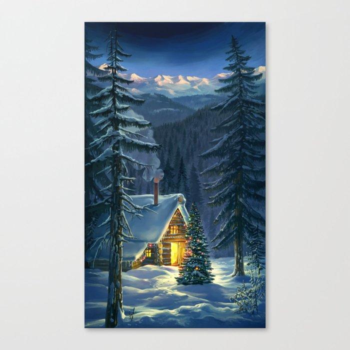 Christmas Snow Landscape Canvas Print