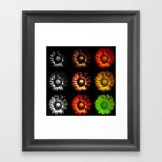 9 suns Framed Art Print