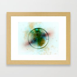 Abstract | Alien Planet | Universe | Fine Office Art | Abstract Gas Framed Art Print