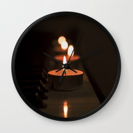 Candles on the piano Wall Clock