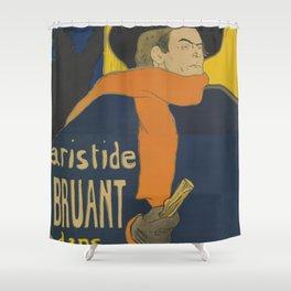 "Henri de Toulouse-Lautrec ""Eldorado: Aristide Bruant"" Shower Curtain"