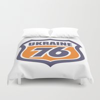 ukraine Duvet Covers featuring DgM UKRAINE 76 by DgMa