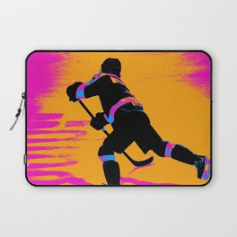 He Shoots! - Hockey Player Laptop Sleeve