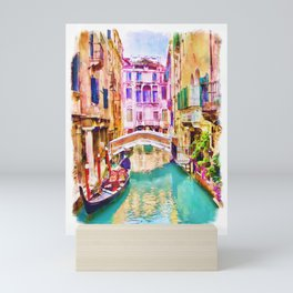 Venice Canal 2 Mini Art Print