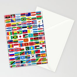 Flags Of The World Stationery Cards