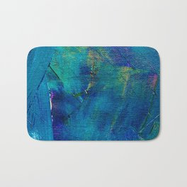 Blue Painting Bath Mat