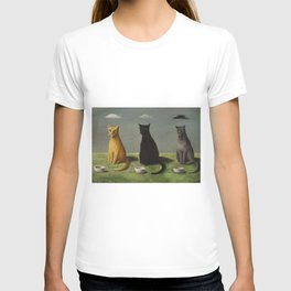 Three Cats with Clouds That Follow Them Everywhere by Gertrude Abercrombie T-shirt