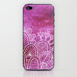 Pink Flower Garden iPhone Skin