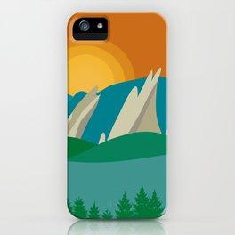 Boulder, Colorado - Skyline Illustration by Loose Petals iPhone Case