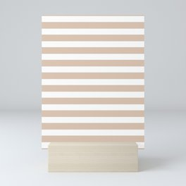 White Lines on Solid Sand Dollar Mini Art Print