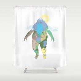 I, Land Shower Curtain