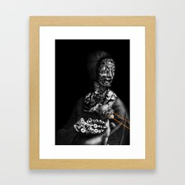 LADY WITH ERMINE BY  LASER BEAMS Framed Art Print